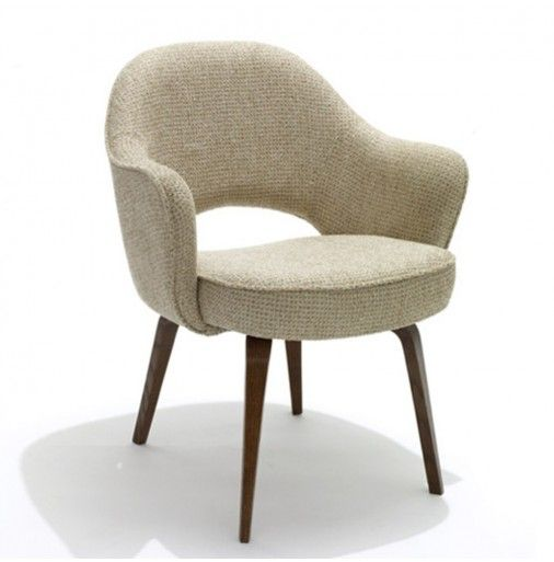 Knoll Saarinen Executive Arm Chair With Wood Legs 1648 Mobilier
