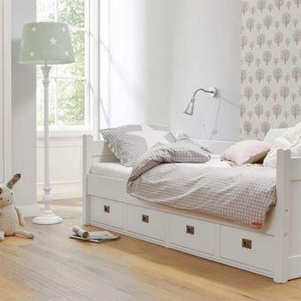 Luxury Kojenbett Kinderbett ANNA mit Schubladen Massivholz wei xcm g nstig online