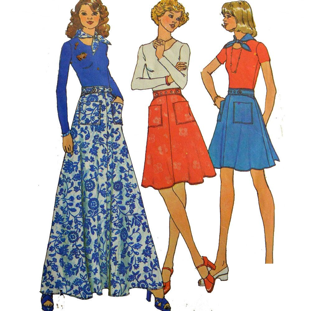 Bohemian maxi skirt pattern vintage s wrap by scarlettsvault
