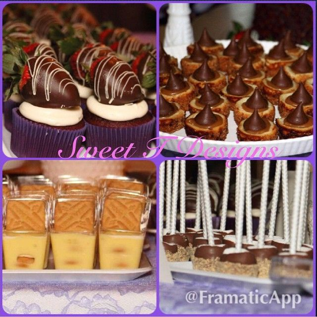 A few weeks ago I was afforded the absolute pleasure of providing sweet treats and decor for the vow renewal of a WONDERFUL couple. Praline pecan cheesecake bites topped with homemade caramel sauce and a Hershey kiss red velvet cupcakes topped with cream cheese icing and chocolate covered strawberries. S'mores on a stick. Mini banana pudding bowls, topped with fresh whipped cream and Lorna Doone cookies. The only thing sweeter than these treats is their love! #SweetTDesignshouston