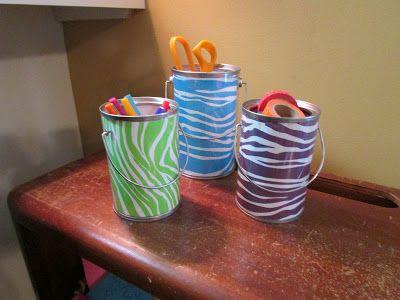 Paint Can Fun Burlap Mason Jars Paint Cans Home Decor Chalkboard