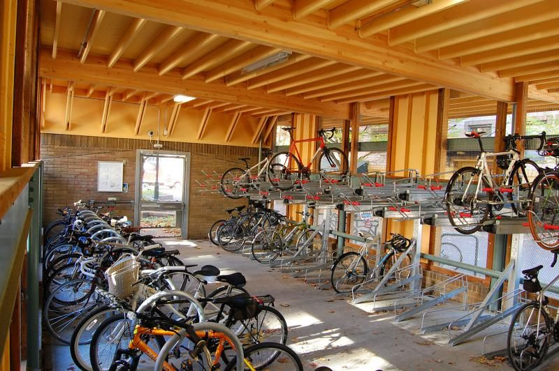 Portland State The Bike Hub - The University's new Montgomery Street Bicycle  Garage has space for