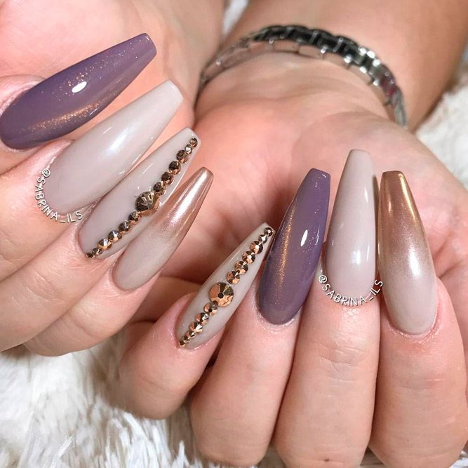 27 Coffin Nails Design Ideas to Consider for Your Next Mani - 27 Coffin Nails Design Ideas To Consider For Your Next Mani