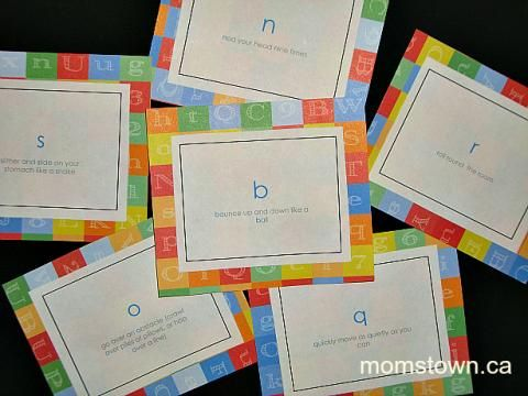 'S'wim like a shark, 'H'op like a Kangaroo and try this fun Bo on the Go Alphabet activity from @Heather Creswell Reider.ca with your kids!