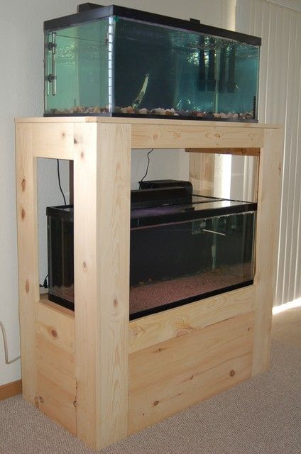 Diy dual 40 gallon stand diy pinterest aquariums for Double fish tank