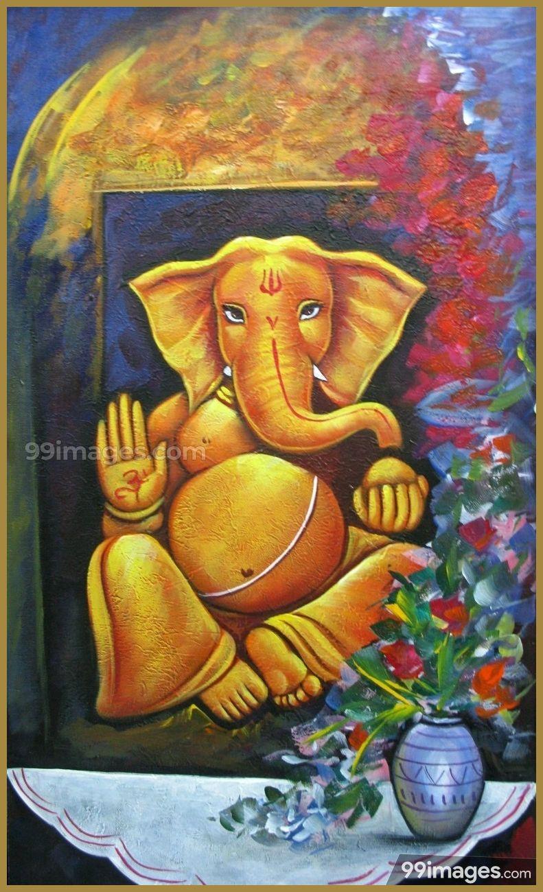 Lord Ganesha Hd Wallpapers Images 1080p 7022 Lordganesha Pillaiyar Vinayagar Ganeshan Go Lord Ganesha Paintings Ganesha Painting Nature Art Painting