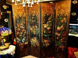 Victorian Dressing Screens Victorian Antique Hand Painted