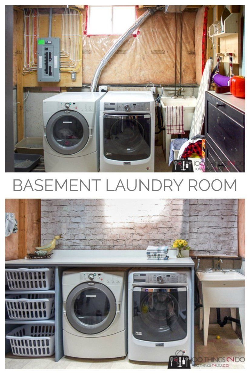 20 Functional Basement Laundry Room Ideas In 2020 Home Decor Basement Laundry Room Makeover Laundry Folding Tables Laundry Room Diy