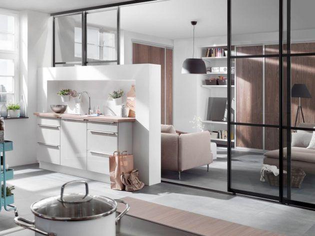 Raumtrenner aus Fensterglas von elfa für die Küche und das - esszimmer berlin