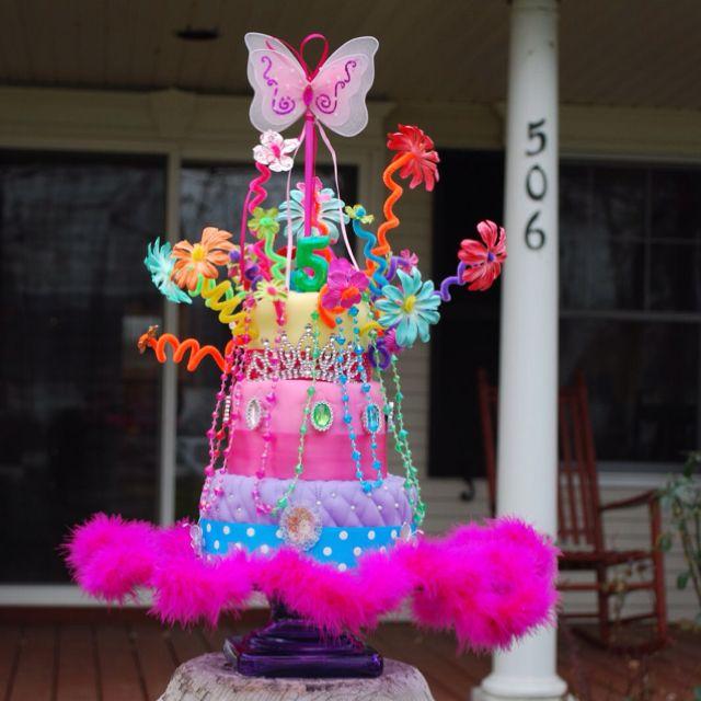 Fancy Nancy 5th Birthday Cake