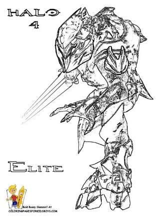 Resultado De Imagem Para Halo Elite Coloring Pages Coloring Pages Drawings Halo
