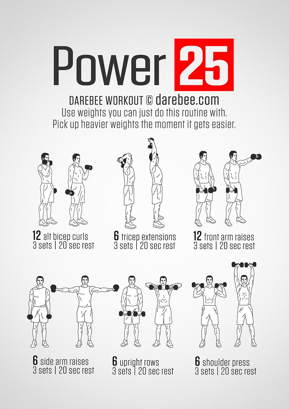 Power +25 Workout … | Health and fitness | Fitne…