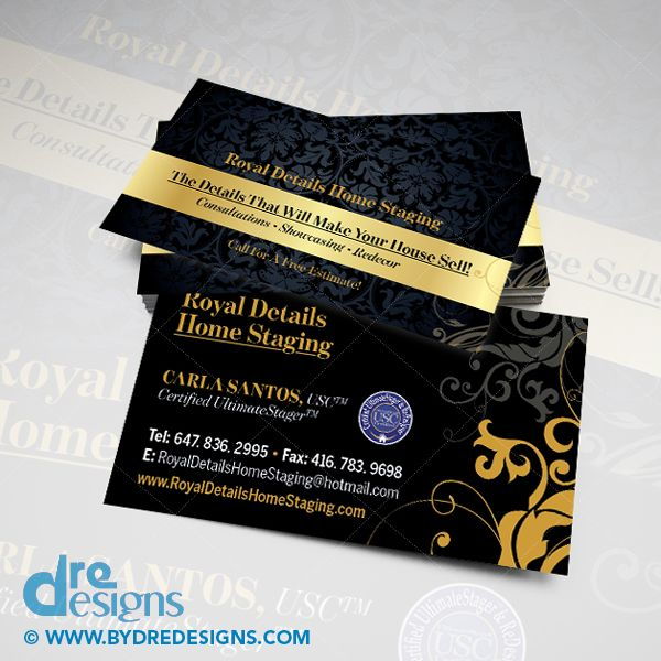 Business Card Design Print For Royal Details Home Staging Dredesigns Businesscarddesign Freelance Graphic Design Business Card Design Portfolio Design