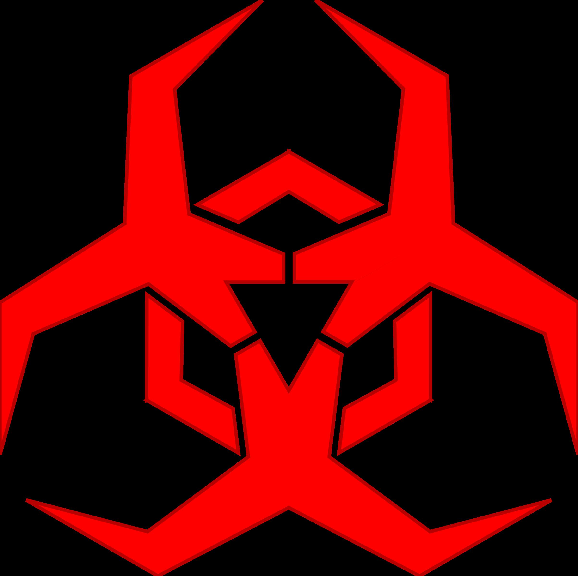 Malware Hazard Symbol Red By Pbcrichton Symbol To Label