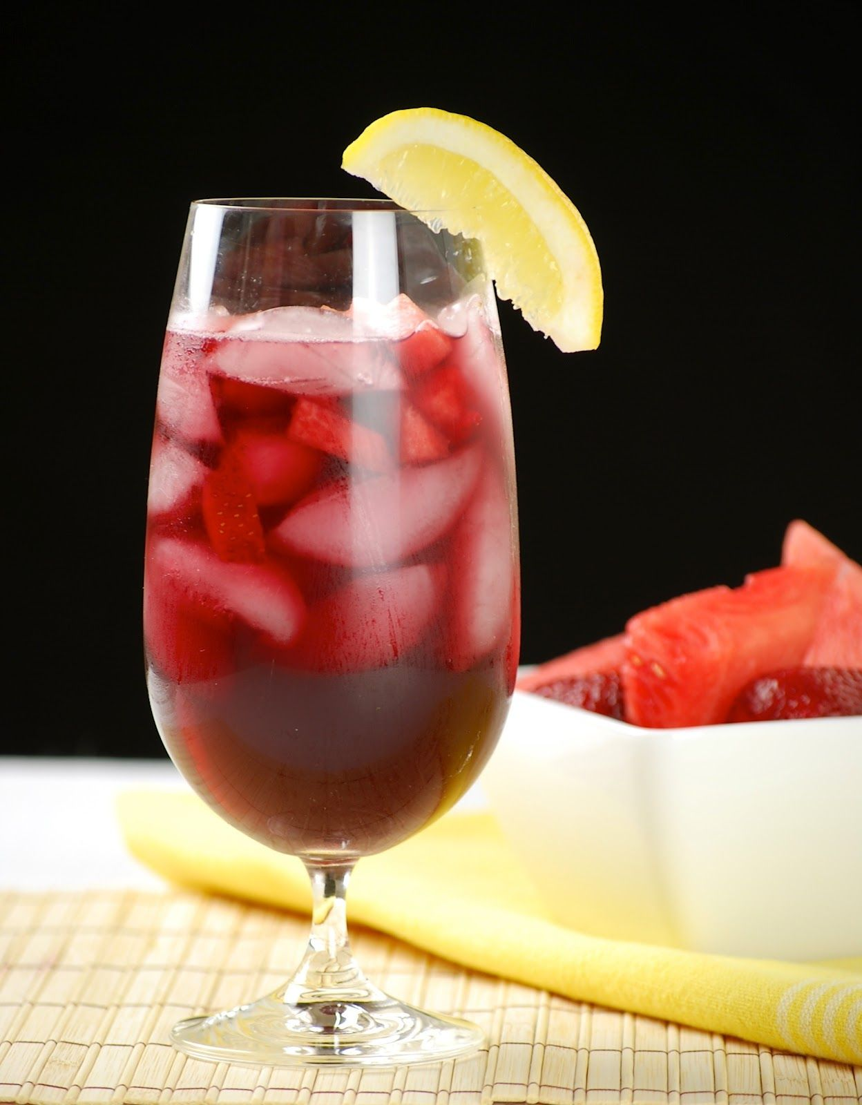 Strawberry-Watermelon Sangria: The perfect summer cocktail.