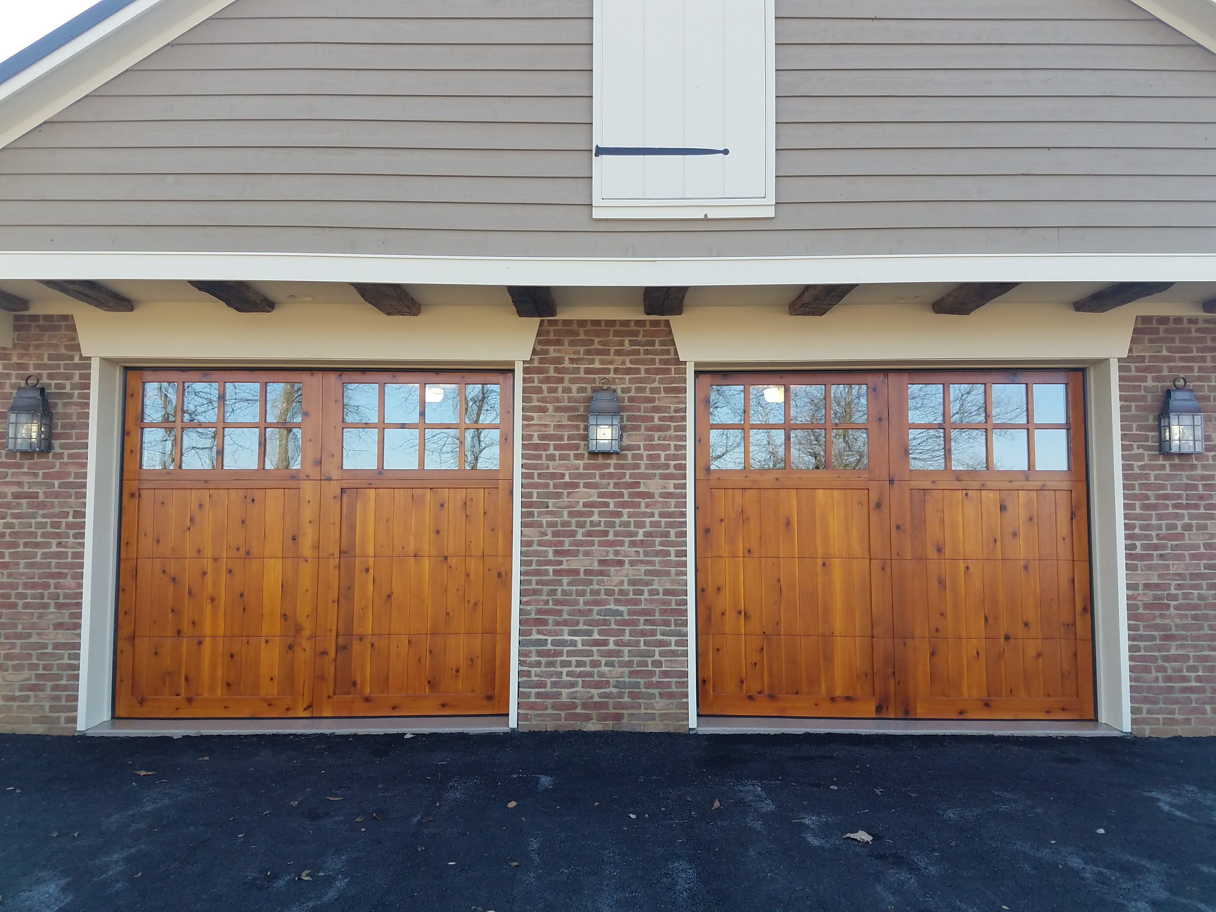 doors garage wood cedar permalink custom tech gallery overlay door
