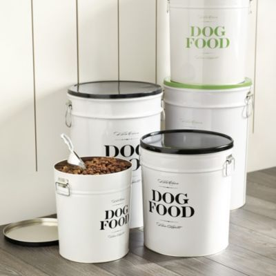 Bon Chien Treat Canister Ballard Designs Dog Food Recipes Food Canisters Large Dog Food Storage