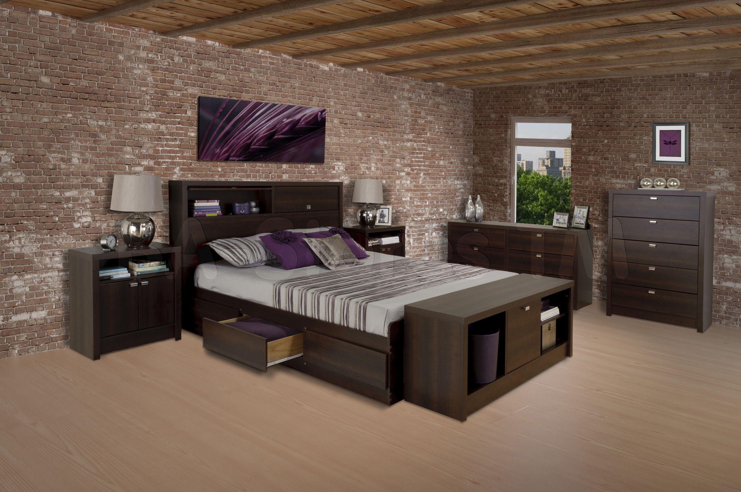 Designer Bedroom Sets Prepac Espresso Series 9 Designer Bedroom Set  Prepac Furniture