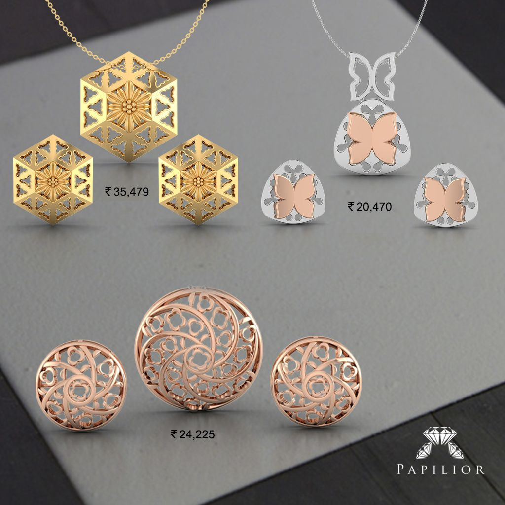 Simple and exquisite gold pendant sets add infinite emotions with