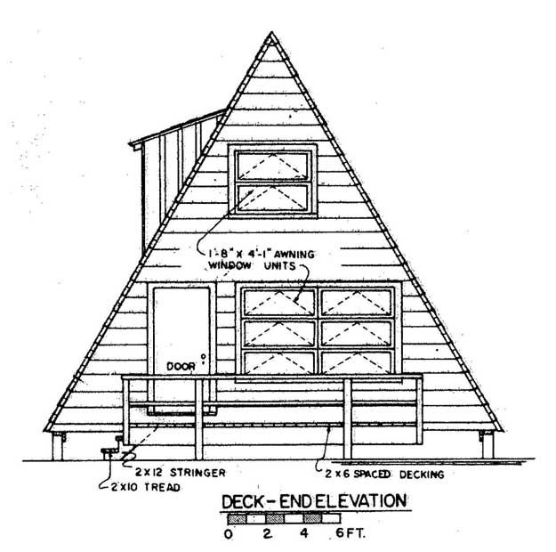 A Frame Home Plan Design Front View | Beach House TinyHouse ...