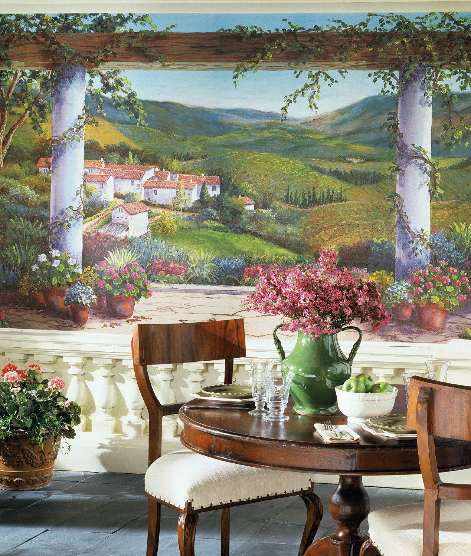 York Wallcoverings Europa Ii Italian Villa Prepasted Mural