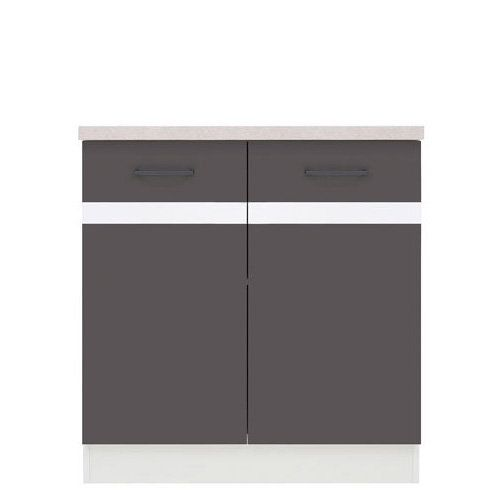 JUNONA DD Base Cabinet Grey Wolfram Base Cabinets Solid - Grey kitchen base cabinets