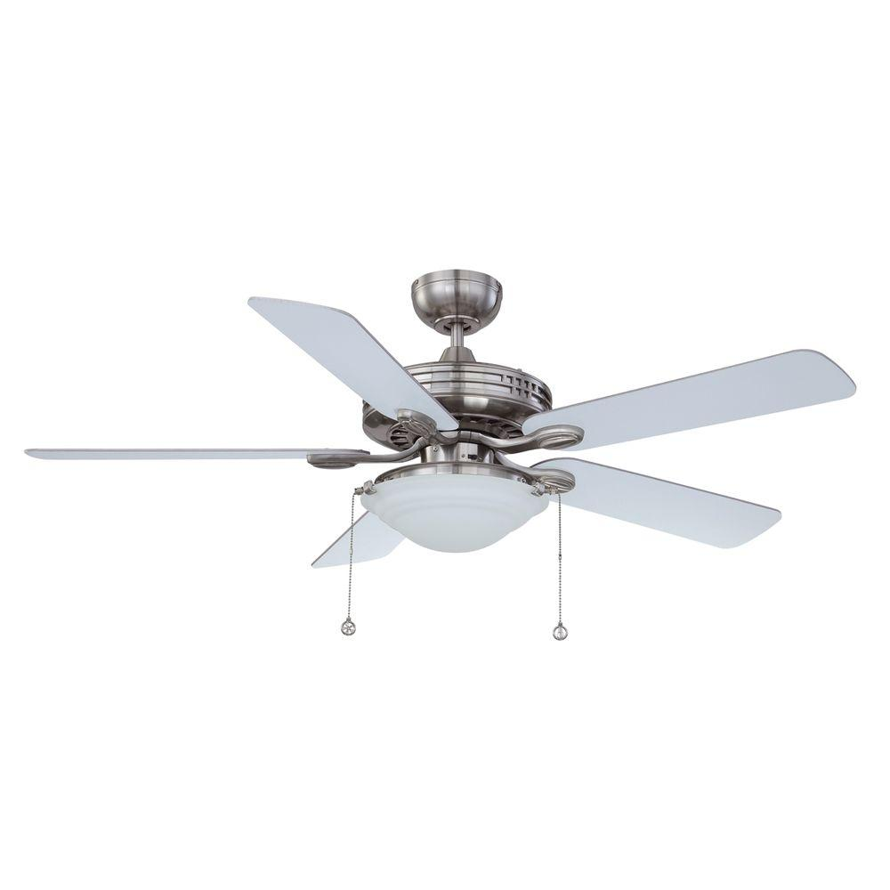Designers choice collection 52 in satin nickel ceiling fan designers choice collection 52 in satin nickel ceiling fan ac18552 sn the home depot aloadofball Choice Image