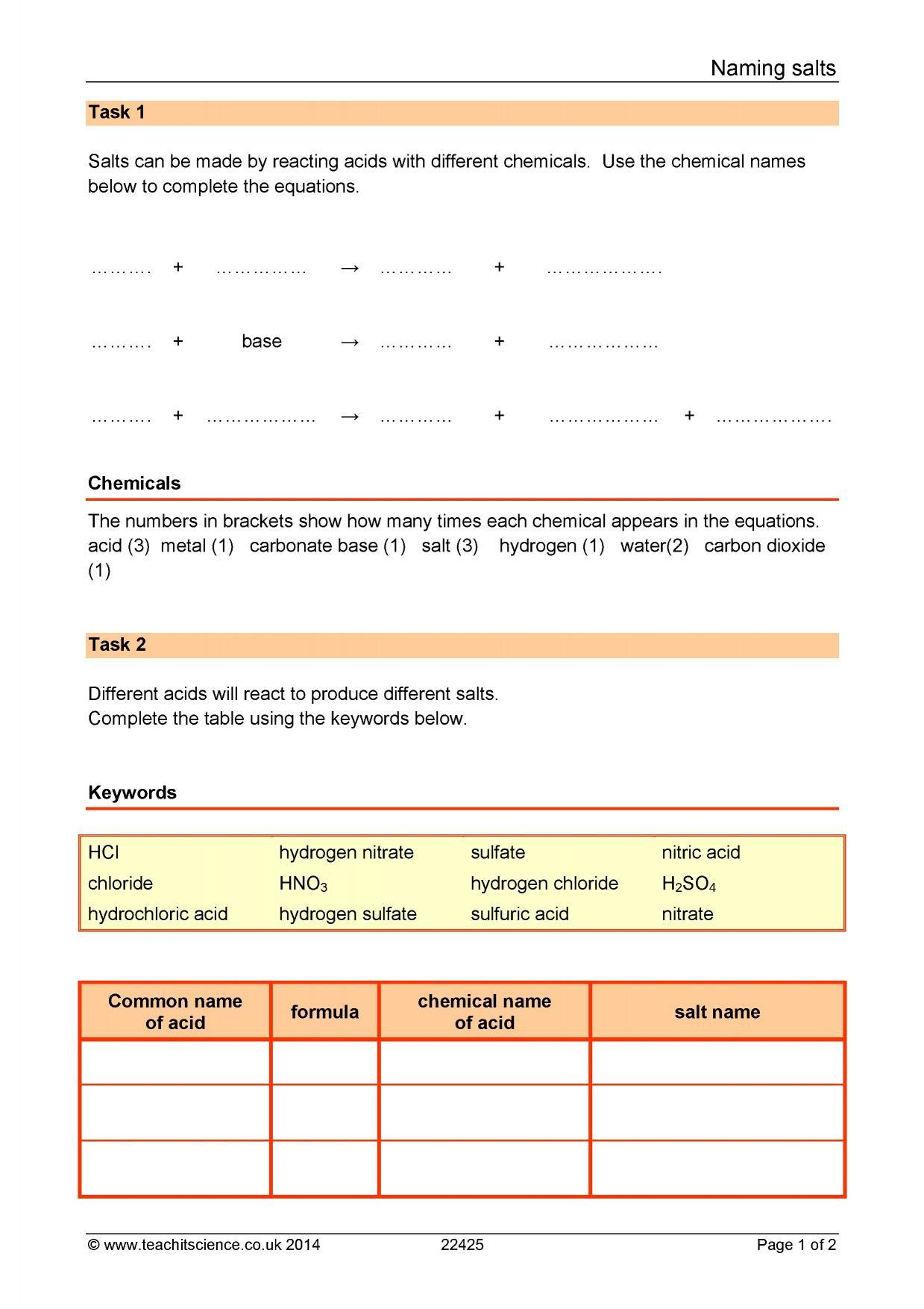 Classified Naming Acids And Bases Worksheet Answers Namingacidsandbasesnotes Namingacidsan