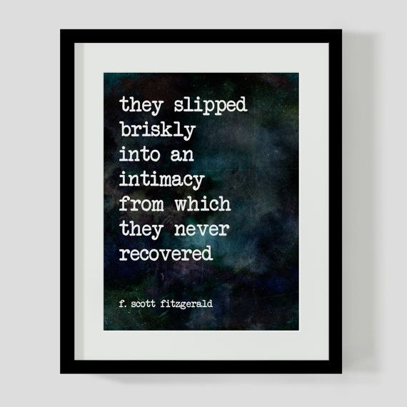 8x10 Print F. Scott Fitzgerald Love Literary Quote Wall Art, Decor - 2  Different