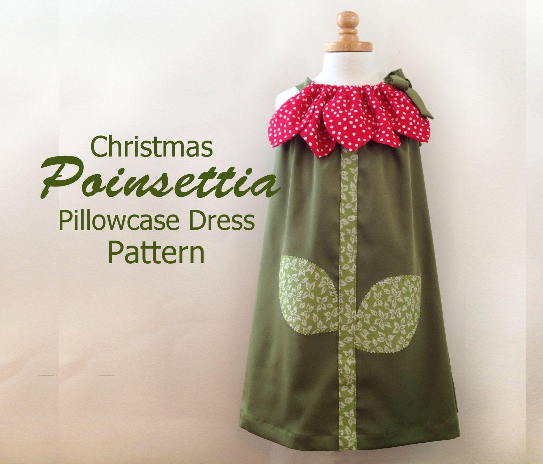 Sunny Flower Pillowcase Dress - Girl Christmas Dress Sewing Pattern ...