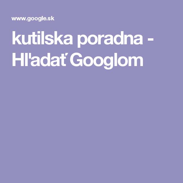 kutilska poradna - Hľadať Googlom