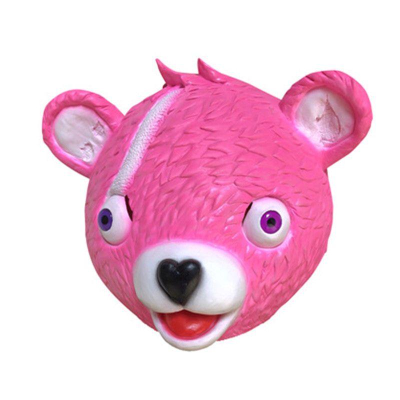 Fortnite Drift Pink Bear Lama Latex Mask Helmet Men Women Halloween Cosplay Gift