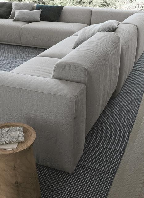 Corner Sectional Upholstered Sofa BOLTON Bolton Collection By Poliform