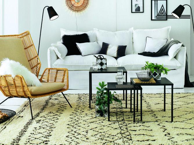table #basse #canapé #blanc #salon #fauteuil Decoración