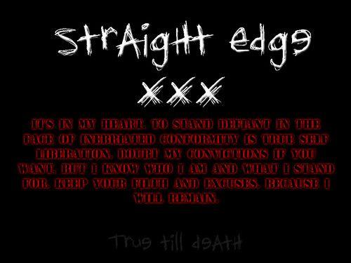 Straight Edge Lifestyle Photo Straight Edge Straight Edges Straight Edges