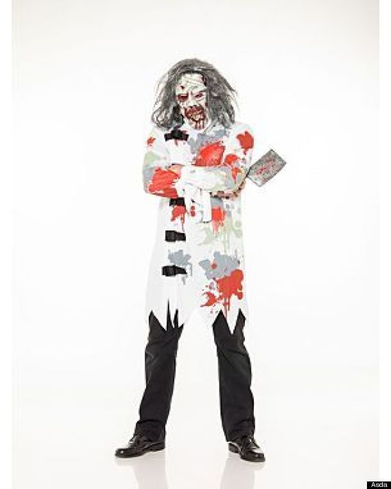 asda and tesco pull mental patient and psycho ward halloween costumes