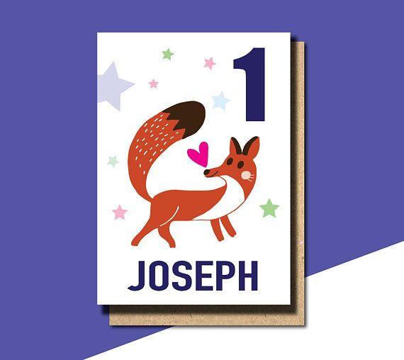 1st Birthday Card Boy Personalised 2nd Birthday Card For Boy