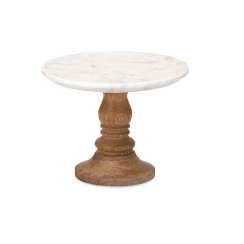 White & Brown Marble Cake Stand $30.95 www.cakestandsgallery.com - Cake Stands Brown (2)
