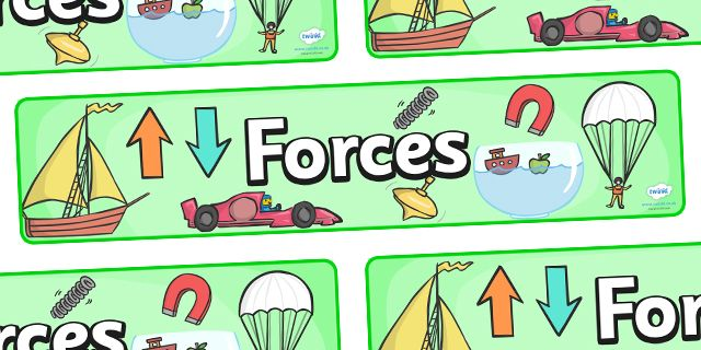 Twinkl Resources Gt Gt Forces Display Banner Gt Gt Thousands Of