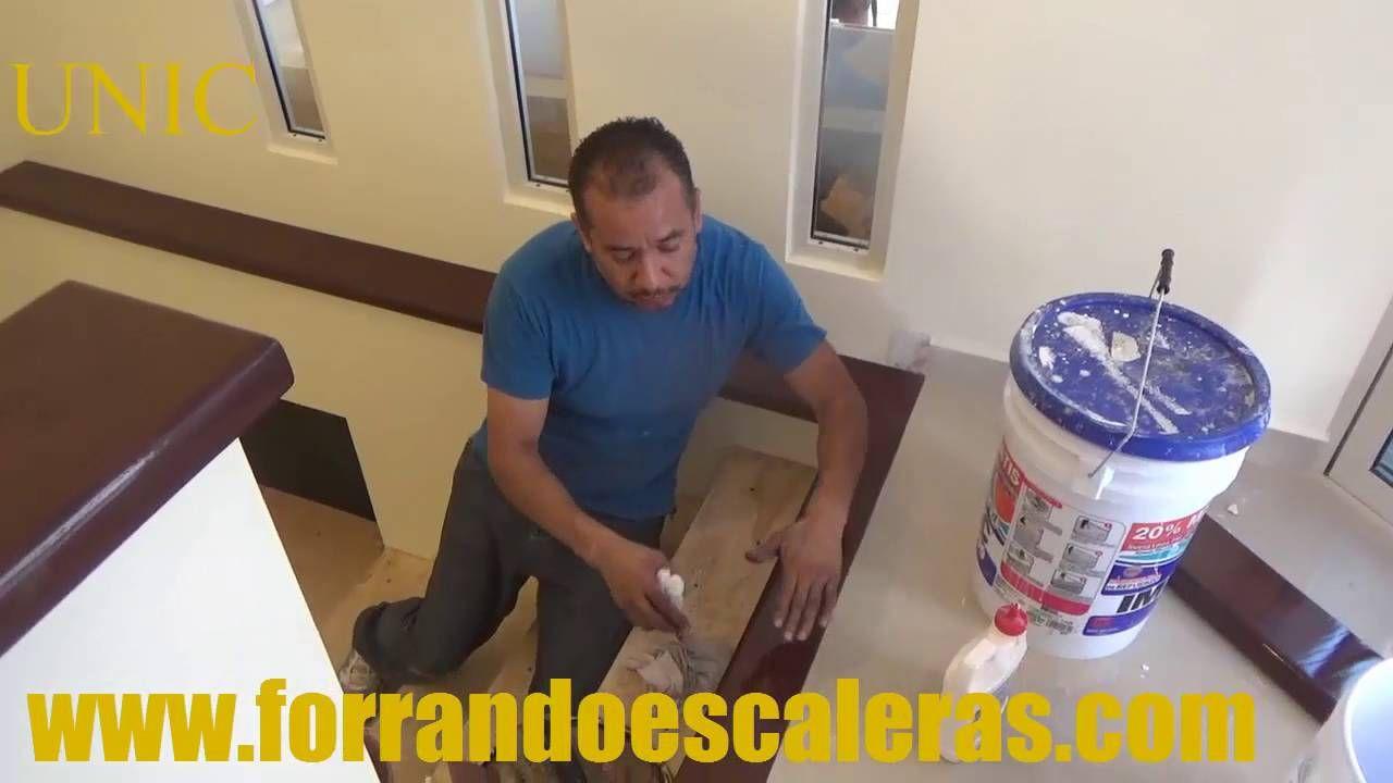 Recubrimiento De Escaleras De Concreto Con Madera Solida  ~ Escaleras Prefabricadas De Madera