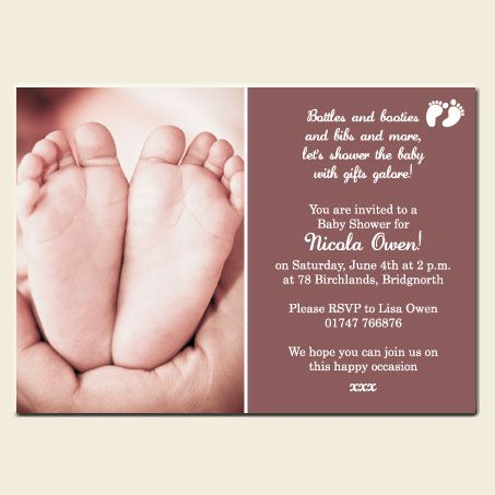 Voetjie Invite Baby Shower Pinterest Shower Invitations