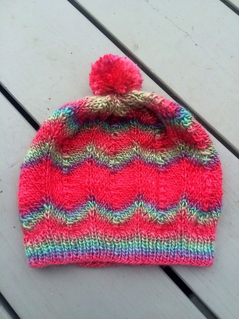 Ravelry: aquilterknits Chevron Stripes Hat red heart ...