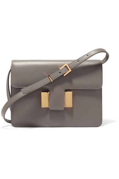 1a0ca40b042 Gray leather (Calf) Push lock-fastening front flap Designer color  Graphite  Comes with dust bag Weighs approximately 1.5lbs  0.7kg Made in Italy