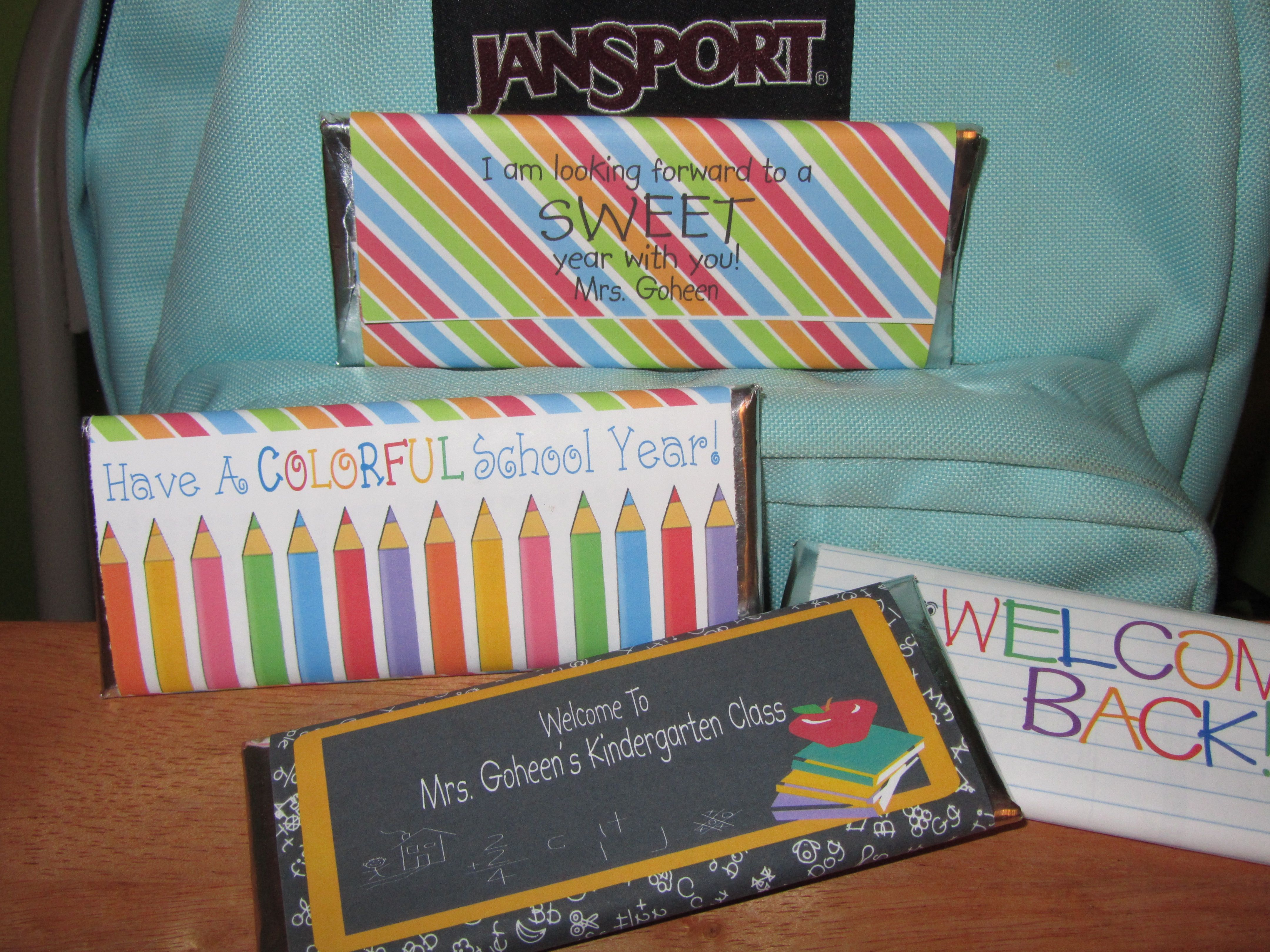 Back To School Candy Wrappers Teacher Student T Ideas