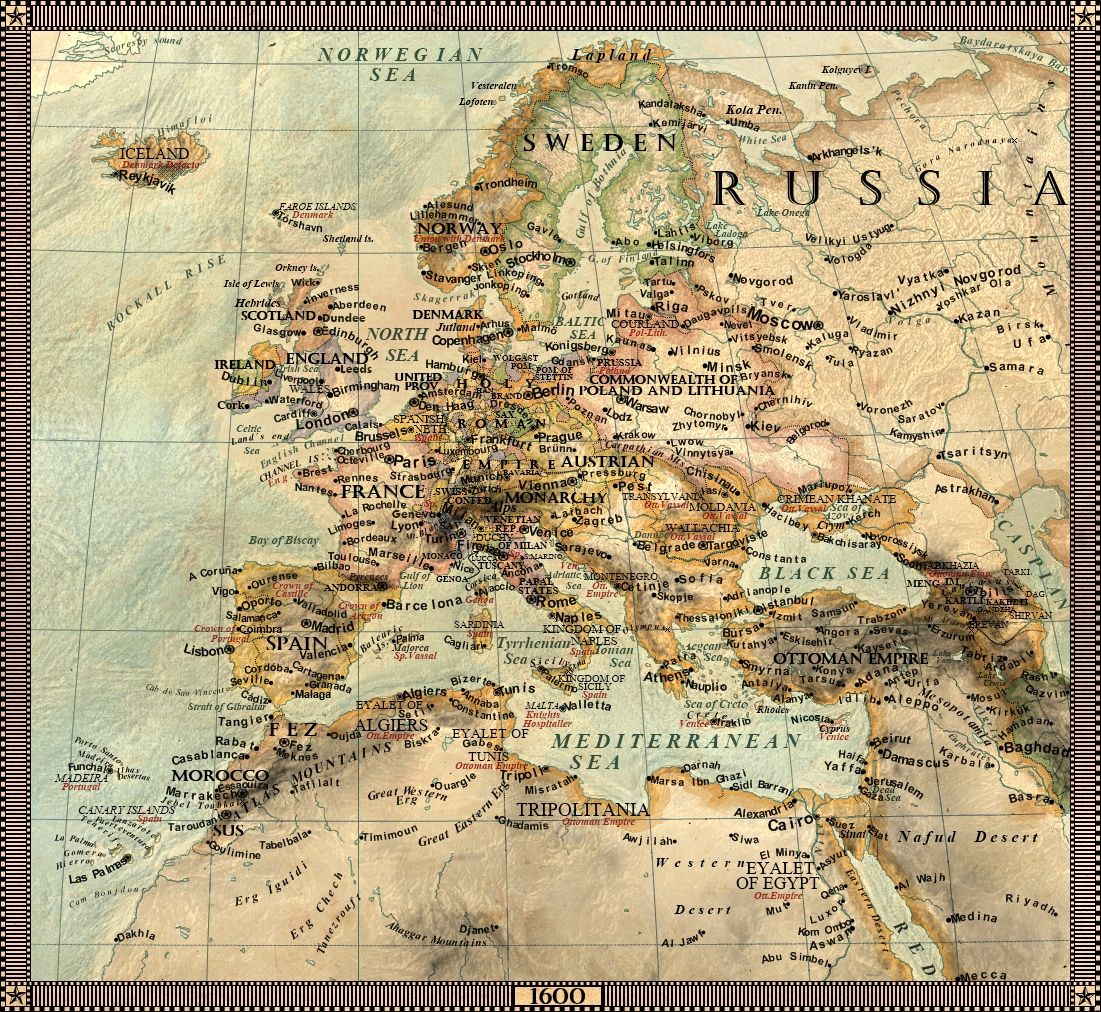Europe In 1600 By Jaysimons On Deviantart Maps Pinterest Map