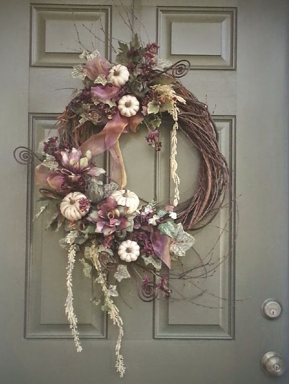 Grapevine Wreath Fall Decor Small Wreath Door Wreath Bohemian Decor Autumn Wreath Boho Fall Decoration Fall Wreath Handmade