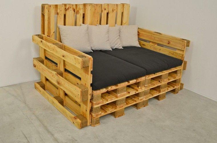 Más de 60 ejemplos de muebles hechos con palets  Tes, Hay and Nail
