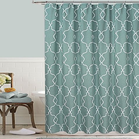 Colordrift Mandy 54 Inch X 78 Embroidered Shower Curtain