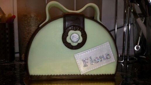 Schoko-Himbeer Handtasche