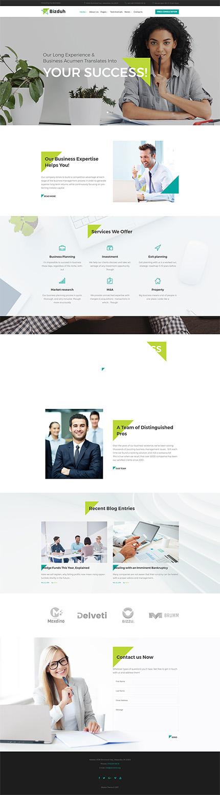 Bizduh - Business Consulting Company Responsive WordPress Theme ...